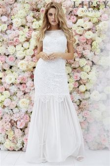 Lipsy Bridal Ella Sheer Skirt Maxi Dress