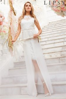 Lipsy Bridal Juliette High Neck Lace Dress