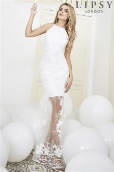 Lipsy Bridal Isla Sheer Embroidery Maxi Dress