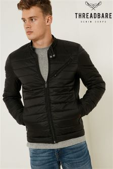 Threadbare Quilted Biker Jacket