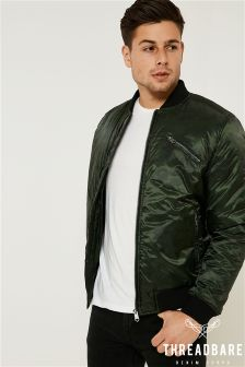 Threadbare Padded Bomber Jacket