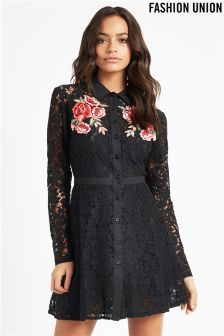 Fashion Union Lace Skater Dress