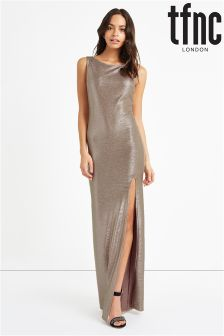 tfnc Metallic Low Back Maxi Dress