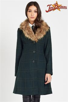 Joe Browns Faux Fur Collar Coat