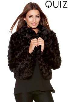 Quiz Fur Collar Short Jacket