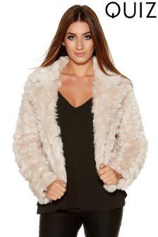 Quiz Faux Fur Jacket
