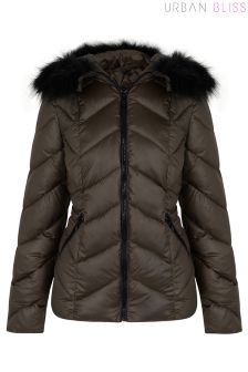 Urban Bliss Chevron Puffer Jacket