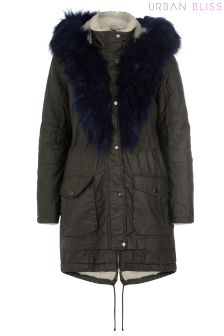 Urban Bliss Fur Waxed Cotton Parka