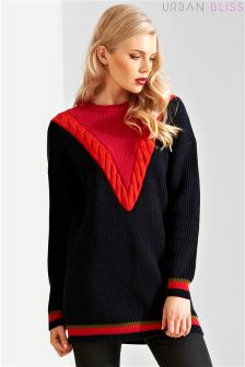 Urban Bliss Chevron Cable Tunic Jumper