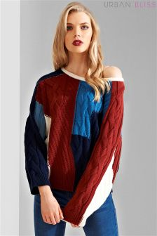 Urban Bliss Patchwork Cable Jumper