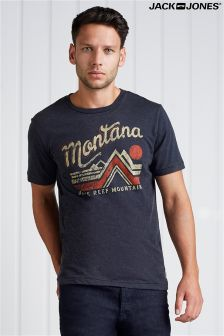 Jack & Jones Logo Print Short Sleeve Tee