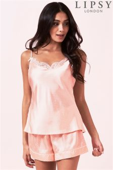 Lipsy Polka Dot Short Pyjama Set