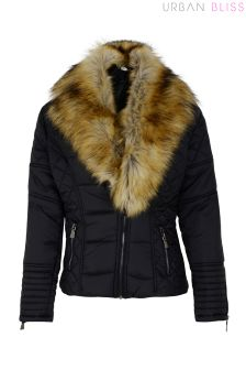 Urban Bliss Fur Collar Puffer Jacket