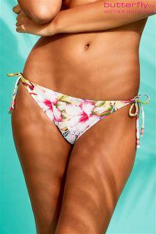 Butterfly By Matthew Williamson Tropical Tie Side Bikini Bottoms