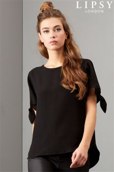 Lipsy Cold Shoulder Tie Top