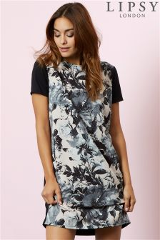 Lipsy Floral Print T-shirt Dress