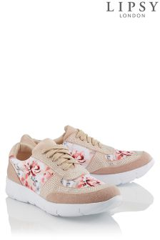 Lipsy Floral Printed Diamante Trainer