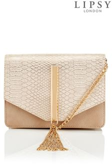 Lipsy Reptile Tassel Cross Body Bag