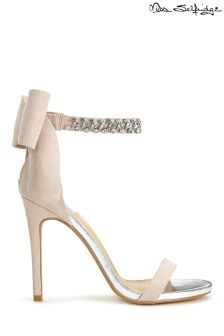 Miss Selfridge Diamante Bow Heeled Sandals