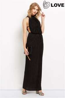 Love Pleated Maxi Dress