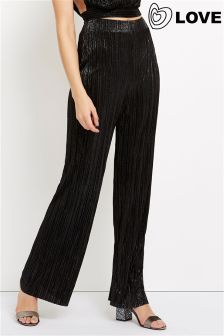 Love Pleated Lurex Trousers