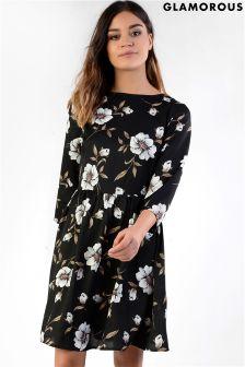 Glamorous Floral Printed Skater Dress