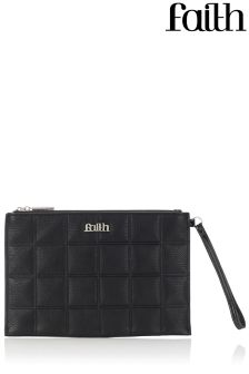 Faith Square Embossed Wristlet