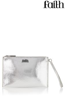 Faith Metallic Wristlet