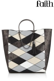 Faith Zig Zag Patchwork Tote Bag