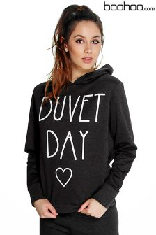 Boohoo Duvet Day Hoodie Lounge Sweater