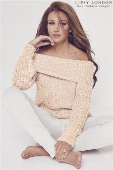 Lipsy Love Michelle Keegan Chunky Knit Bardot Jumper
