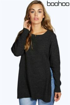 Boohoo Plus Side Split Tunic Jumper