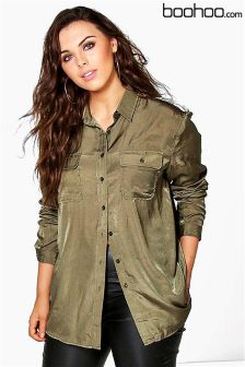 Boohoo Plus Military Shirt