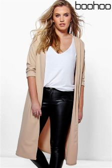 Boohoo Plus Collarless Duster Jacket