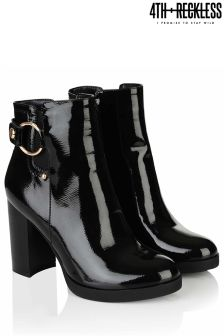 4th & Reckless Patent Buckle Ankle Boot