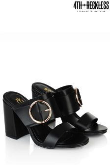 4th & Reckless Buckle Block Heel Mules