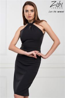 Zibi London Choker Midi Dress