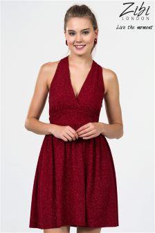 Zibi London Halterneck Mini Dress