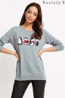 Society 8 Christmas Penguin Jumper