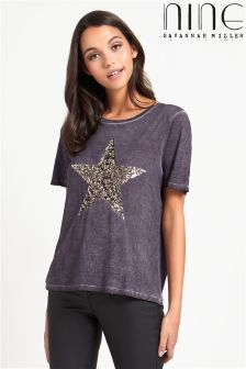 Nine By Savannah Miller Star Sequin Tee