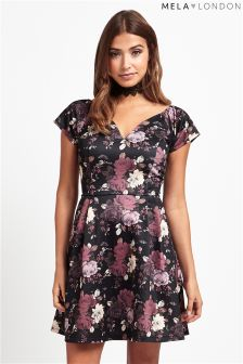 Mela Loves London Bardot Rose Dress