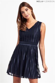 Mela Loves London Shimmer Skater Dress