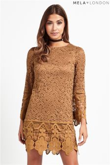 Mela Loves London Lace Detail Dress