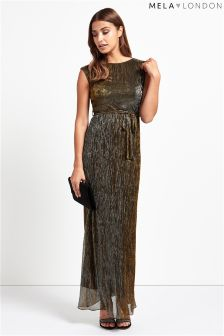 Mela Loves London Shimmer Tie Dress