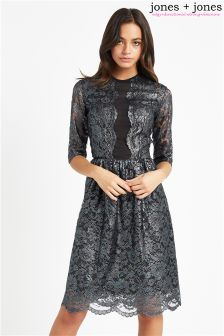 Jones + Jones Skater Lace Dress