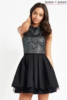 Jones + Jones Petrol Lace Dress