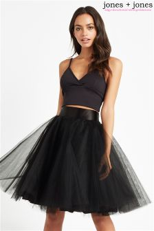 Jones + Jones Netted Skirt