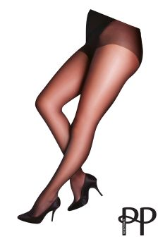 Pretty Polly Curves 2 Pack Glossy 10 Denier Tights