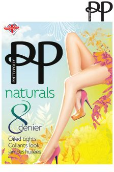 Pretty Polly 8 Denier Oiled Barely There Tights
