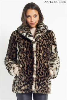 Anita & Green Animal Faux Fur Jacket
